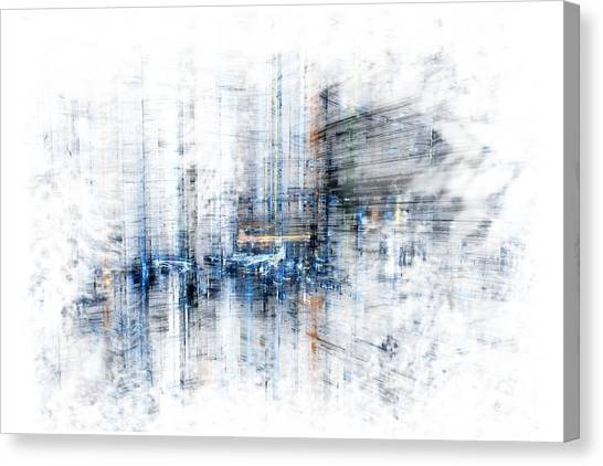 Cyber City Design Canvas Print