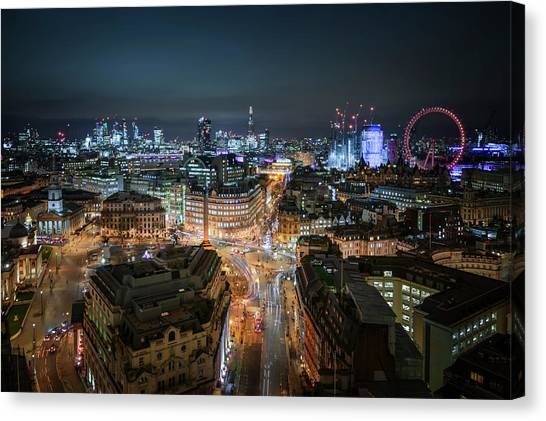 Canvas Print featuring the photograph Cyber City by Stewart Marsden