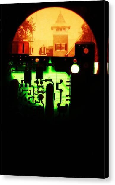Cyber Plantation Canvas Print