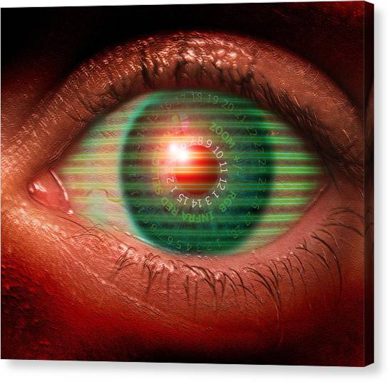 Cybernetic Eye Canvas Print by Victor Habbick Visions