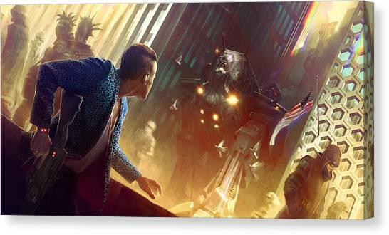 Cyberpunk Canvas Print - Cyberpunk 2077 by Maye Loeser