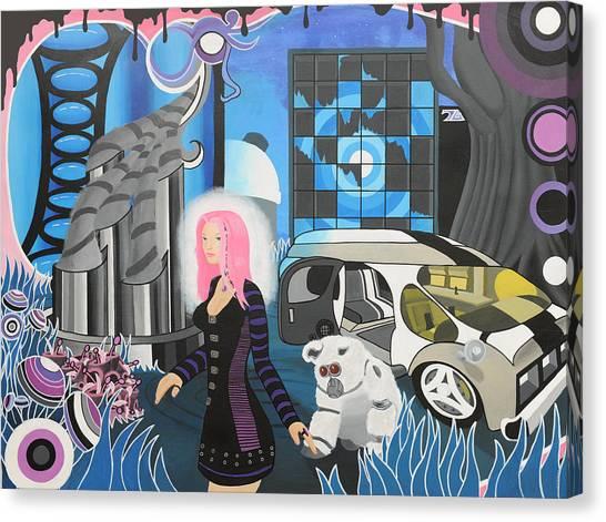 Cyberpunk Aesthetics Number Three Canvas Print by Thomas Albany