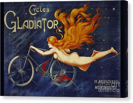 Cycles Gladiator  Vintage Cycling Poster Canvas Print