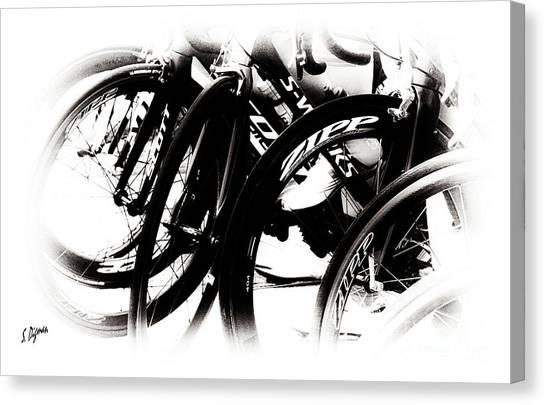 Cycling Art  Canvas Print by Steven Digman