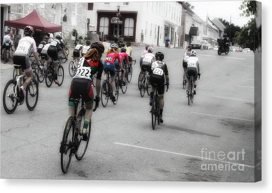Cycling Red  Canvas Print by Steven Digman
