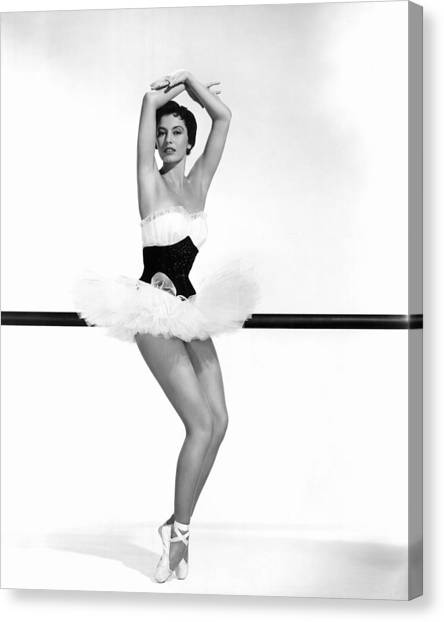 Charisse Canvas Print - Cyd Charisse, 1955 by Everett