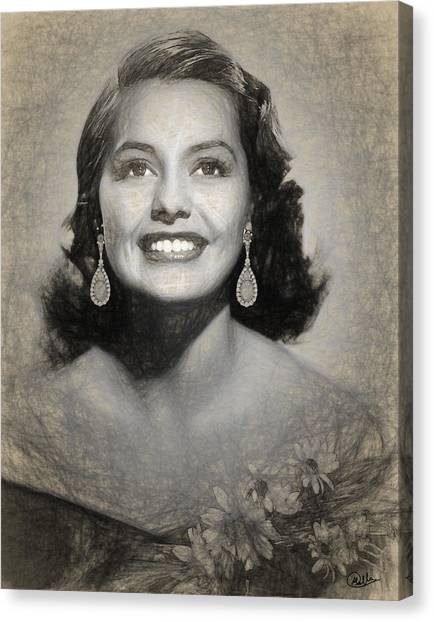 Charisse Canvas Print - Cyd Charisse Drawing by Quim Abella