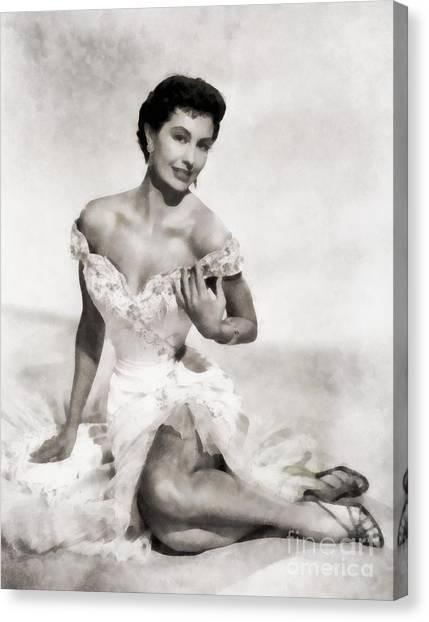 Charisse Canvas Print - Cyd Charisse, Hollywood Legend by Frank Falcon