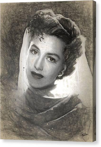 Charisse Canvas Print - Cyd Charisse Pencil by Quim Abella