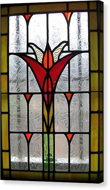 Cyndees Window Canvas Print by Alan Carlson