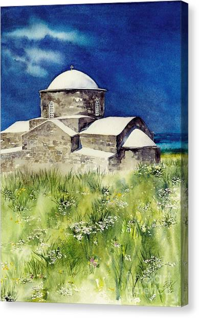 Cyprus The Old Church Canvas Print
