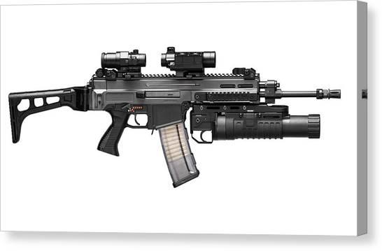 Rifles Canvas Print - Cz-805 Bren by Super Lovely