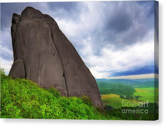Yen Canvas Print - Da Bia Mountain Peak by MotHaiBaPhoto Prints