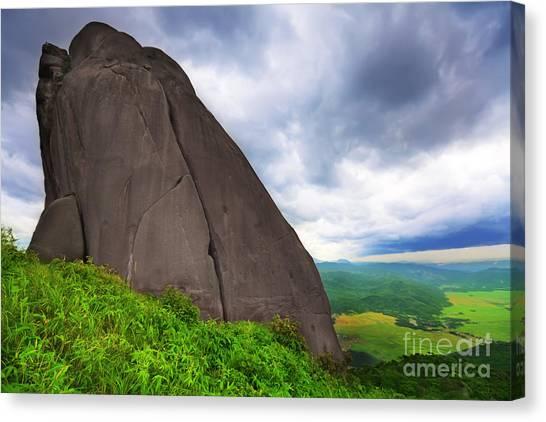 Yen Canvas Print - Da Bia Mountain Peak by MotHaiBaPhoto Prints