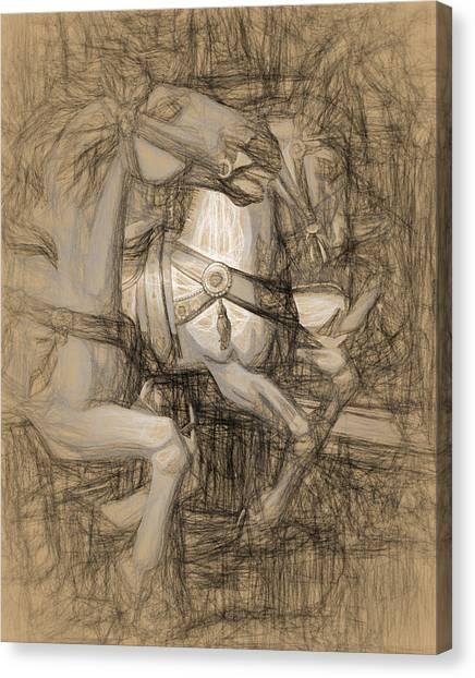 Da Vinci Carousel Canvas Print