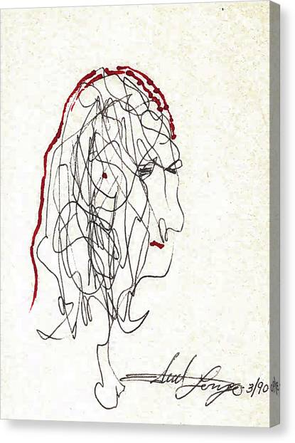 Da Vinci Drawing Canvas Print