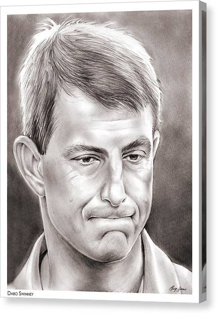 Clemson University Canvas Print - Dabo Swinney by Greg Joens