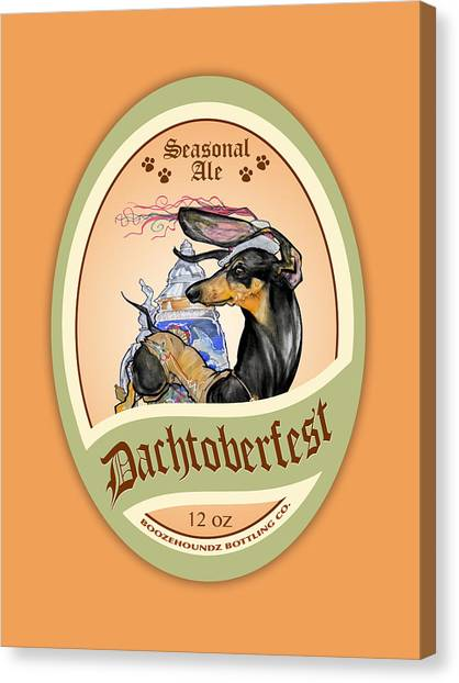 Craft Beer Canvas Print - Dachtoberfest Seasonal Ale by John LaFree