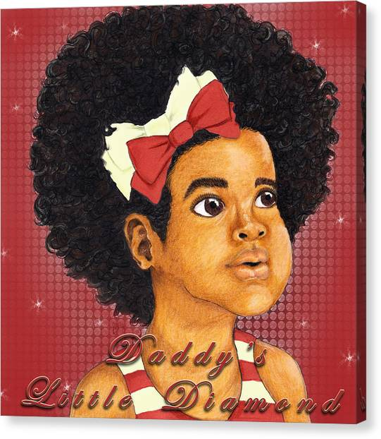 Kappa Alpha Psi Canvas Print - Daddy's Little Girl - Kappa Alpha Psi by BFly Designs
