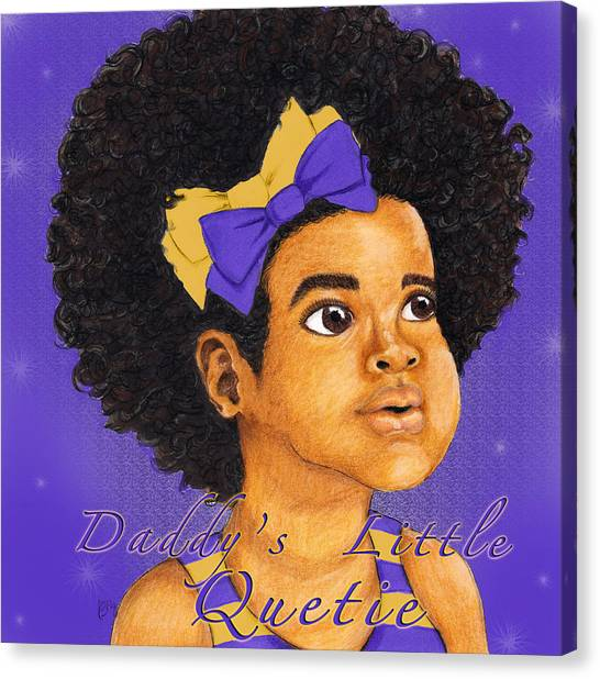 Omega Psi Phi Canvas Print - Daddy's Little Girl - Omega Psi Phi by BFly Designs