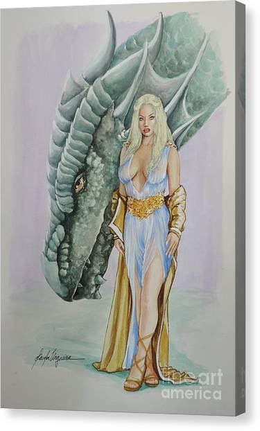 Daenerys Targaryen - Game Of Thrones Canvas Print