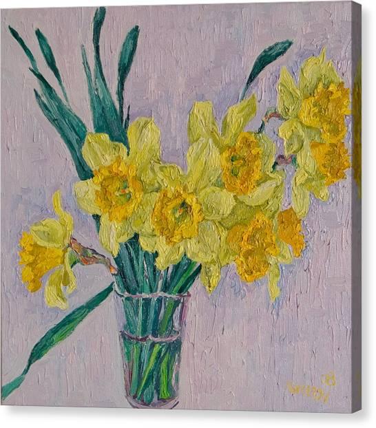 Daffodils Canvas Print by Vitali Komarov