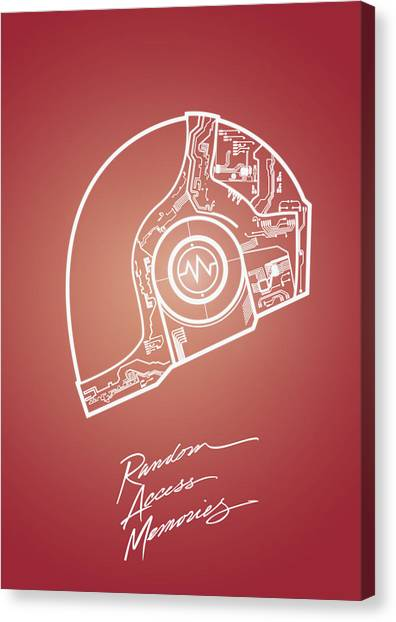 Daft Punk Guy Manuel Poster Random Access Memories Digital Illustration Print Canvas Print