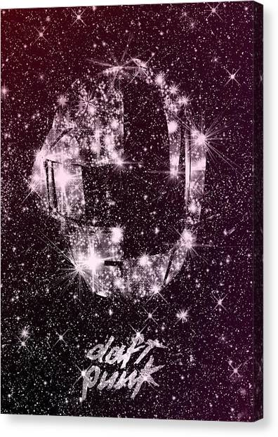 Daft Punk Poster Helmets Print Space Stars Random Access Memories Disco Retro Digital Print Canvas Print