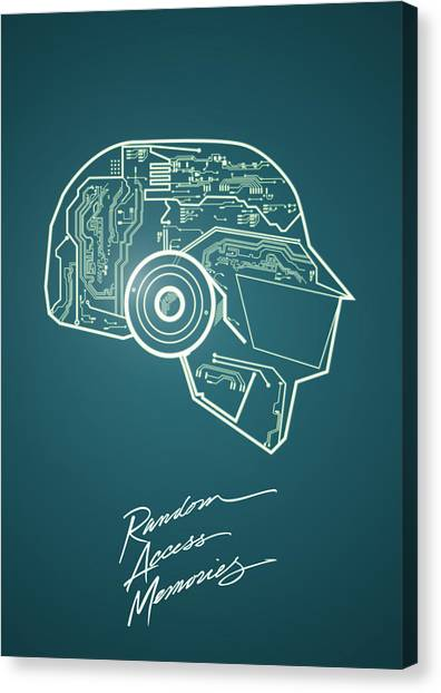 Daft Punk Thomas Poster Random Access Memories Digital Illustration Print Canvas Print