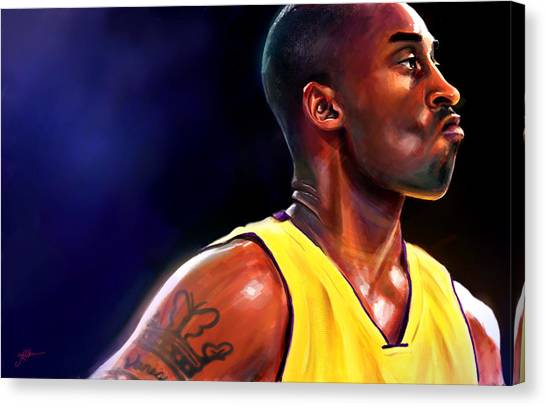 Kobe Bryant Canvas Print - Daggers by Jack Perkins