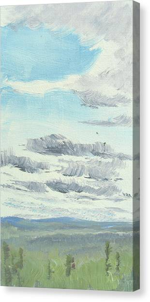 Dagrar Over Salenfjallen- Shifting Daylight Over Distant Horizon 10 Of 10_0029 Canvas Print