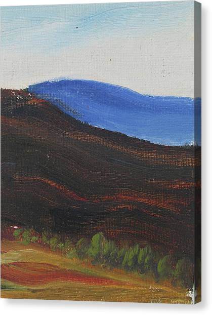 Dagrar Over Salenfjallen- Shifting Daylight Over Distant Horizon 2 Of 10_0035 50x40 Cm Canvas Print