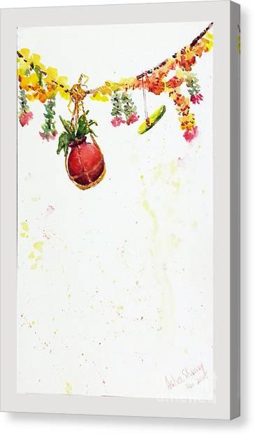 Dahi Handi Canvas Print
