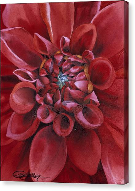 Dahlia Canvas Print by Craig Gallaway
