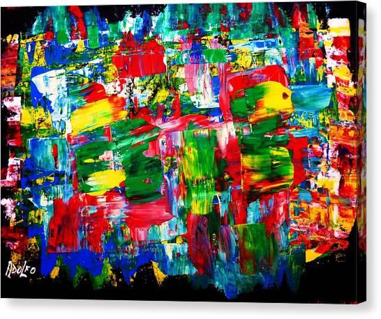 .....dah...trip........wow... Canvas Print by Adolfo hector Penas alvarado