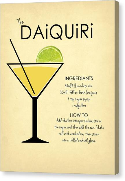 Liquor Canvas Print - Daiquiri by Mark Rogan