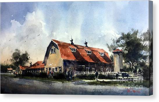 Dairy Barn At Texas Technological College Canvas Print