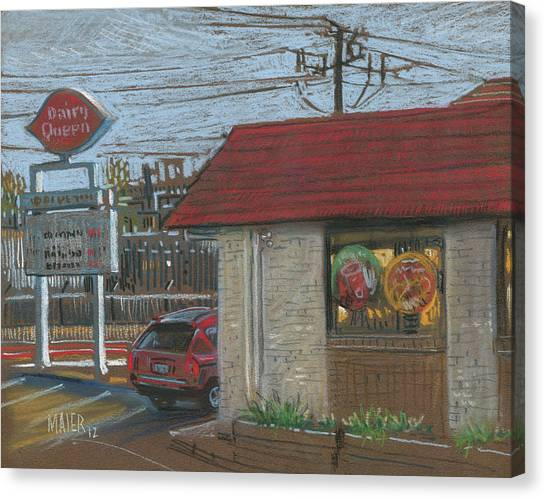 Fast Food Canvas Print - Dairy Queen by Donald Maier