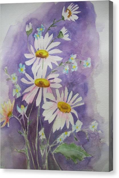 Daisey Bouquet Canvas Print