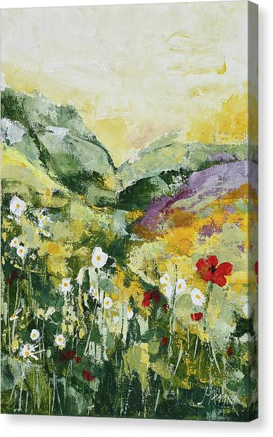 Daisies And Poppies Canvas Print