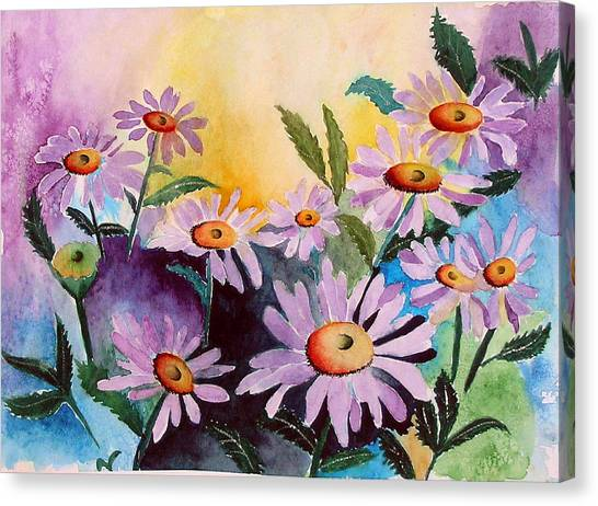 Daisies Canvas Print by Mary Gaines