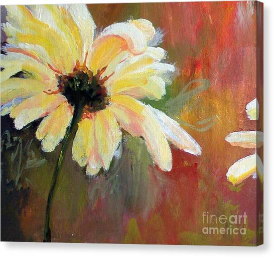 Daisy 1 Of 3 Triptych Canvas Print