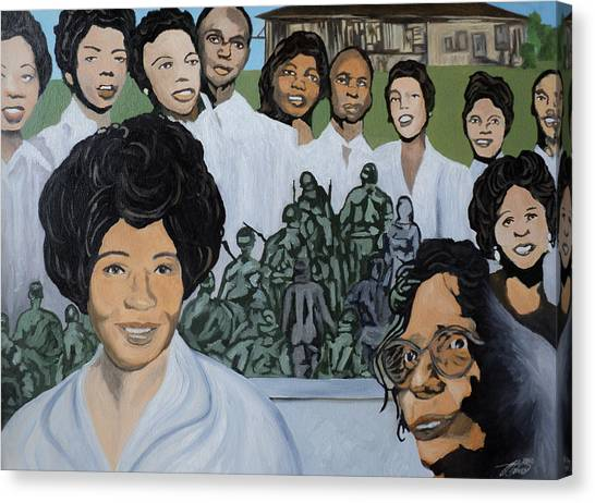 Daisy Bates And The Little Rock Nine Tribute Canvas Print
