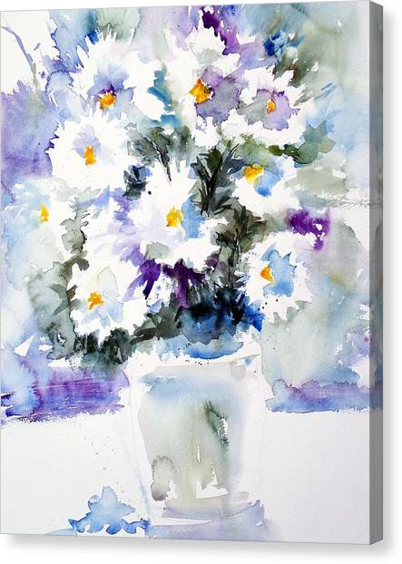 Daisy Bouquet Canvas Print by Carol Sprovtsoff