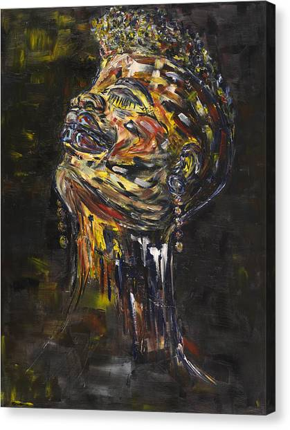 Expressionism Canvas Print - Daisy by Chakanaka Zinyemba