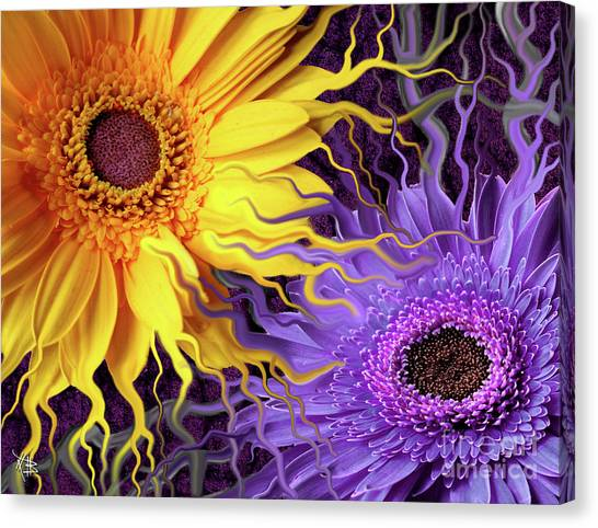 Surreal Digital Art Canvas Print - Daisy Yin Daisy Yang by Christopher Beikmann