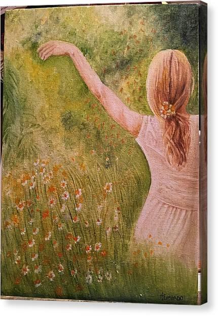 Daisying Around Canvas Print by Hermi Zumbado