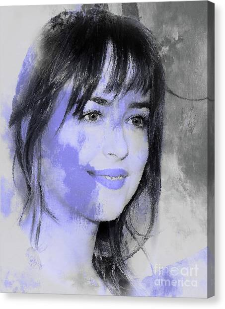 Dwayne Johnson Canvas Print - Dakota Johnson 88 by Gull G