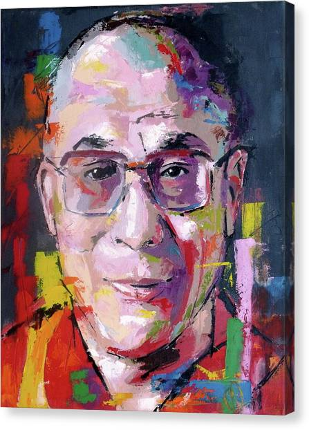 Lama Canvas Print - Dalai Lama by Richard Day