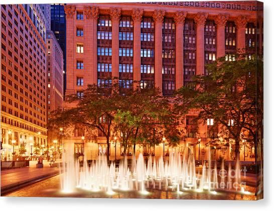 Pablo Picasso Canvas Print - Daley Plaza At Dawn - City Of Chicago - Illinois by Silvio Ligutti